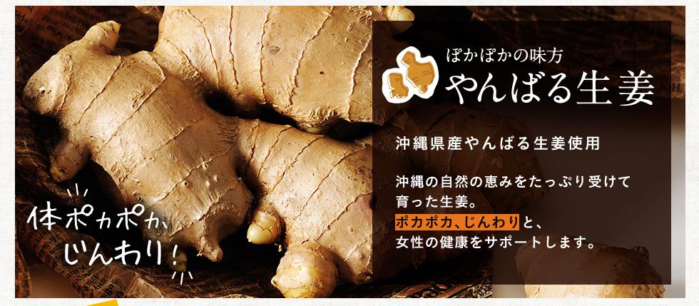 冷え、めぐり、生理のチクチク やんばる生姜